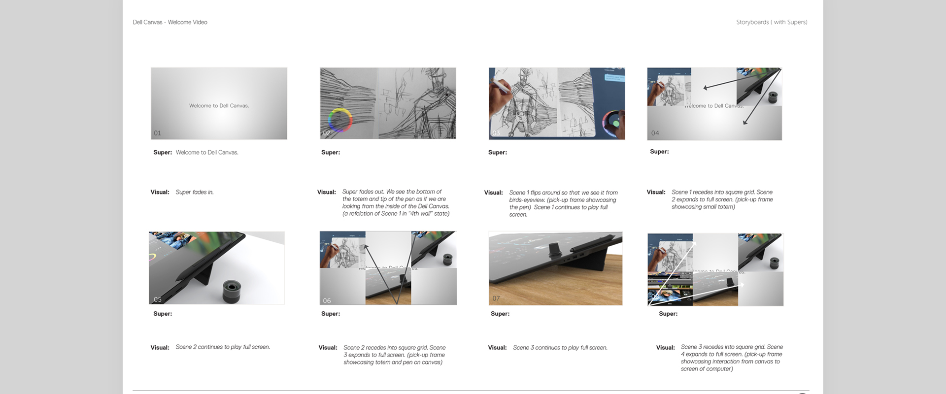 Dell Canvas Video Storyboard