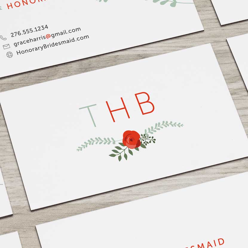 The Honorary Bridesmaid Business Cards Hero